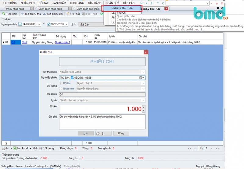 Phần mềm quản lý đơn hàng miễn phí Vshopplus