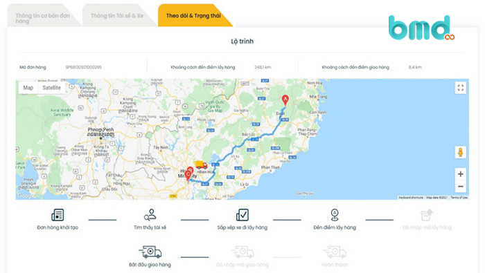 Phần mềm quản lý vận tải Free TaaS Truck
