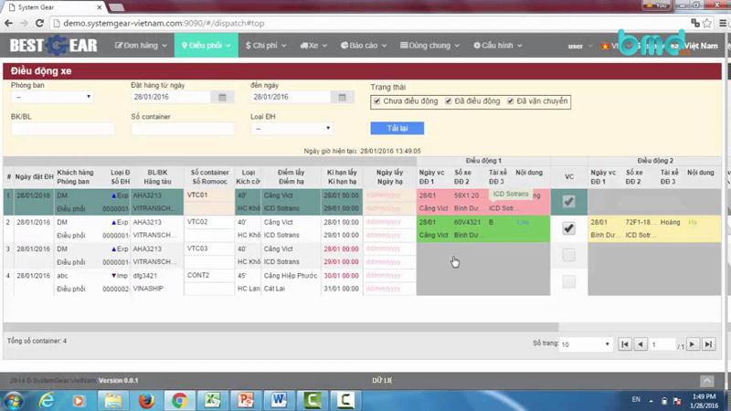 Phần mềm quản lý vận tải miễn phí bestgear