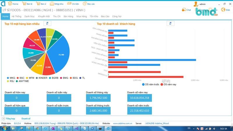 Phần mềm quản lý vận tải miễn phí vzsoft