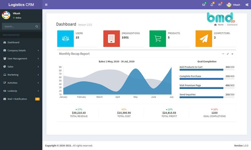 Tính năng thống kê của phần mềm logistics